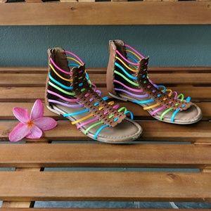 Girls rainbow sandals size 2